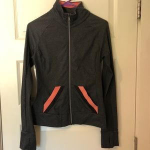 PrAna Yoga zip-up jacket with hand covers